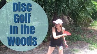 Disc golfing in the woods | Nikki Stixx