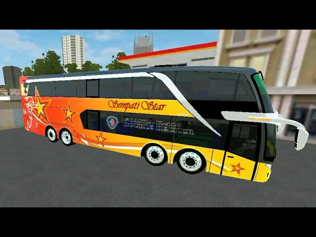 Mod Bus SDD 4AXLE Double Decker by WSP Mods (Zilla) + Livery BUSSID