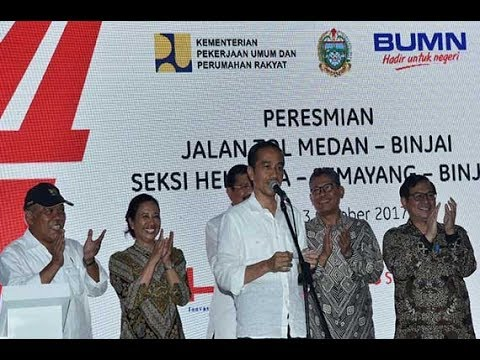Peresmian Jalan Tol Medan Kualanamu Tebing Tinggi dan Jalan Tol Medan Binjai