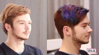 Креативное мужское окрашивание волос. Creative hair coloring.(, 2015-01-21T22:05:27.000Z)