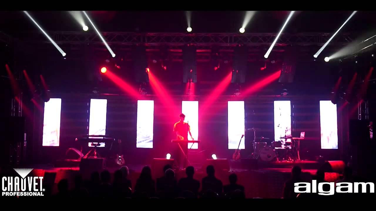& CHAUVET Professional Light Show at Algam Salon - YouTube