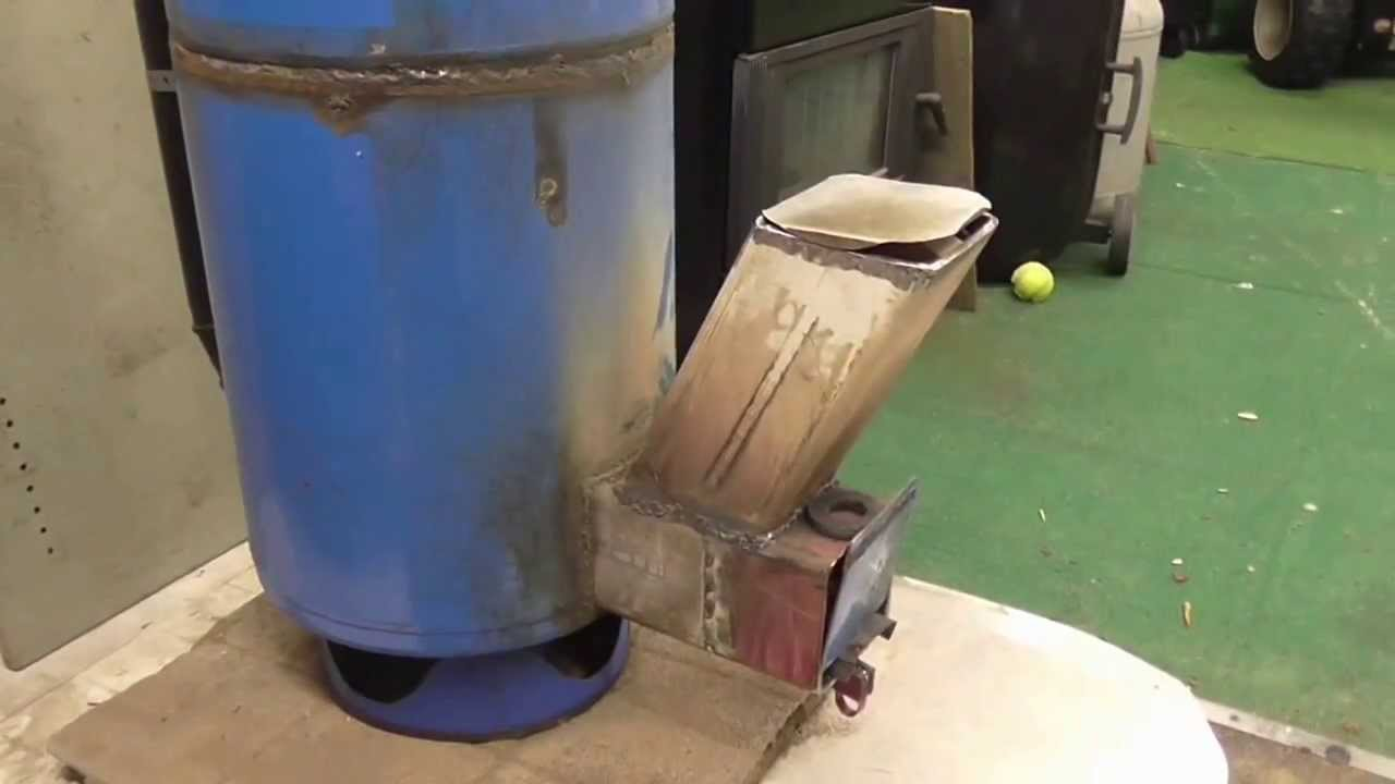 Rocket stove heater build and burn pt 2 youtube for How to build a rocket stove water heater