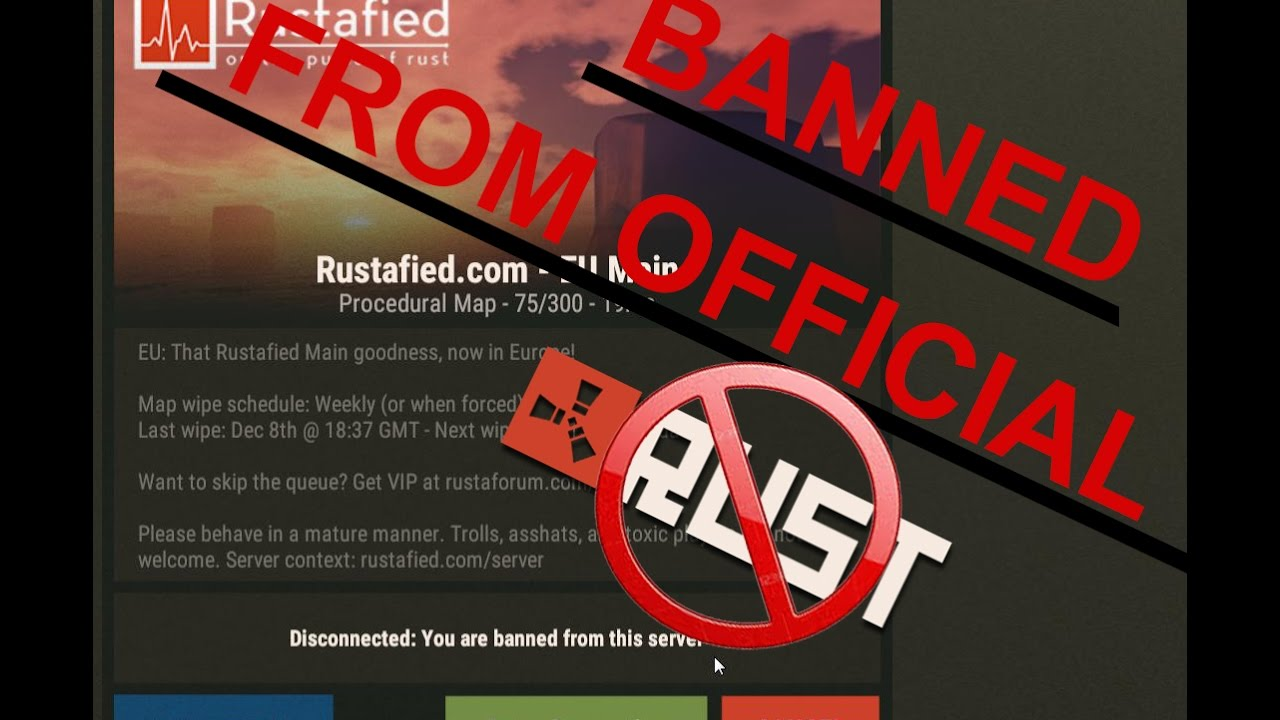 I WAS BANNED FROM AN OFFICIAL RUST SERVER YouTube - Procedural map rust rusttopia us