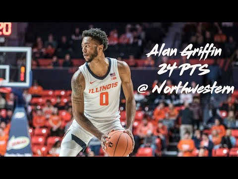 Alan Griffin Full Highlights (24 Pts 6-8 3PT) at Northwestern 2/27/20