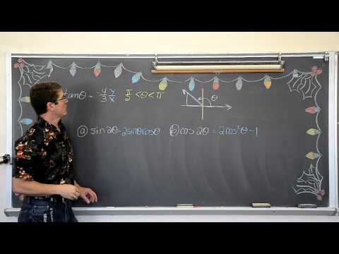 Evaluating Trigonometry Expressions with Half and Double Angles Pt1