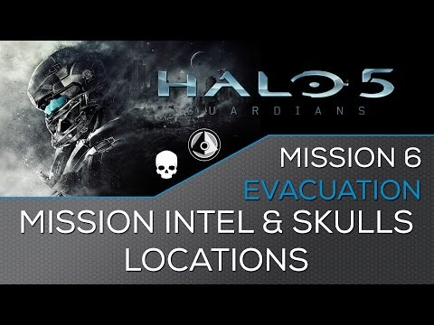 Halo 5 - Mission 6: Evacuation ★ Intel & Skulls Locations ★ Hunt the Truth Achievement