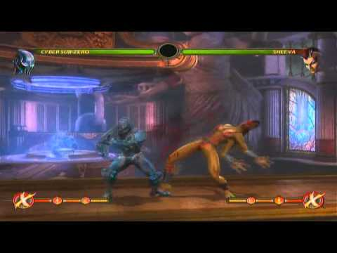 Cyber Sub Zero Combos in Mortal Kombat (Short Version)