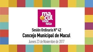 Concejo Municipal de Macul N° 42 / 23-11-2017