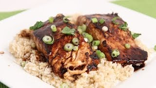 Teriyaki Salmon Recipe - Laura Vitale - Laura In The Kitchen Episode 711