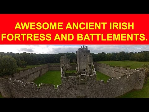 Ancient IRISH fortress, battlements, gate house, in perfect condition!!