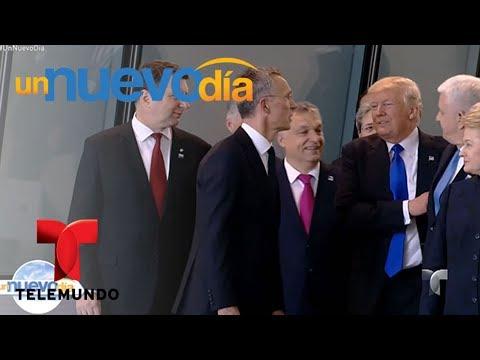 ¡Donald Trump empujó al Primer Ministro de Montenegro! | Un Nuevo Día | Telemundo