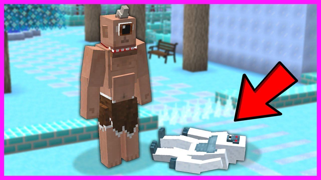 TEPEGÖZ, KAR CANAVARINI AYAĞIYLA EZİYOR! 😱 - Minecraft