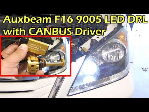 AUXBEAM F16 9005 LED DRL Daytime Running Light with CANBUS Decoder Driver