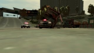 Dump Truck VS. the cops | GTA4 MACHINIMA