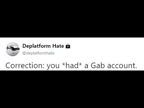 Gab Scourged from the Internet by DeplatformHate
