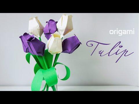🌷 Origami Tulip
