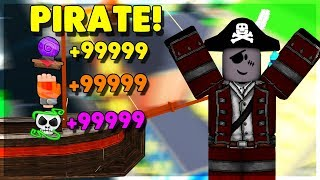 PIRATE CAPTAIN USES HIS *OP* SKILLS AND STATS! (ROBLOX POWER SIMULATOR)