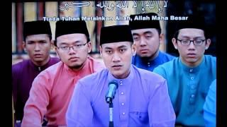 Takbir Aidilfitri bersama Hj Nasrul, Mohd Ali, & Syujaiee.