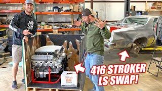 homepage tile video photo for LS Swapping Demo Ranch's EL CHROMINO Part 1: Surprising Matt With a Texas Speed Stroker Engine!!!