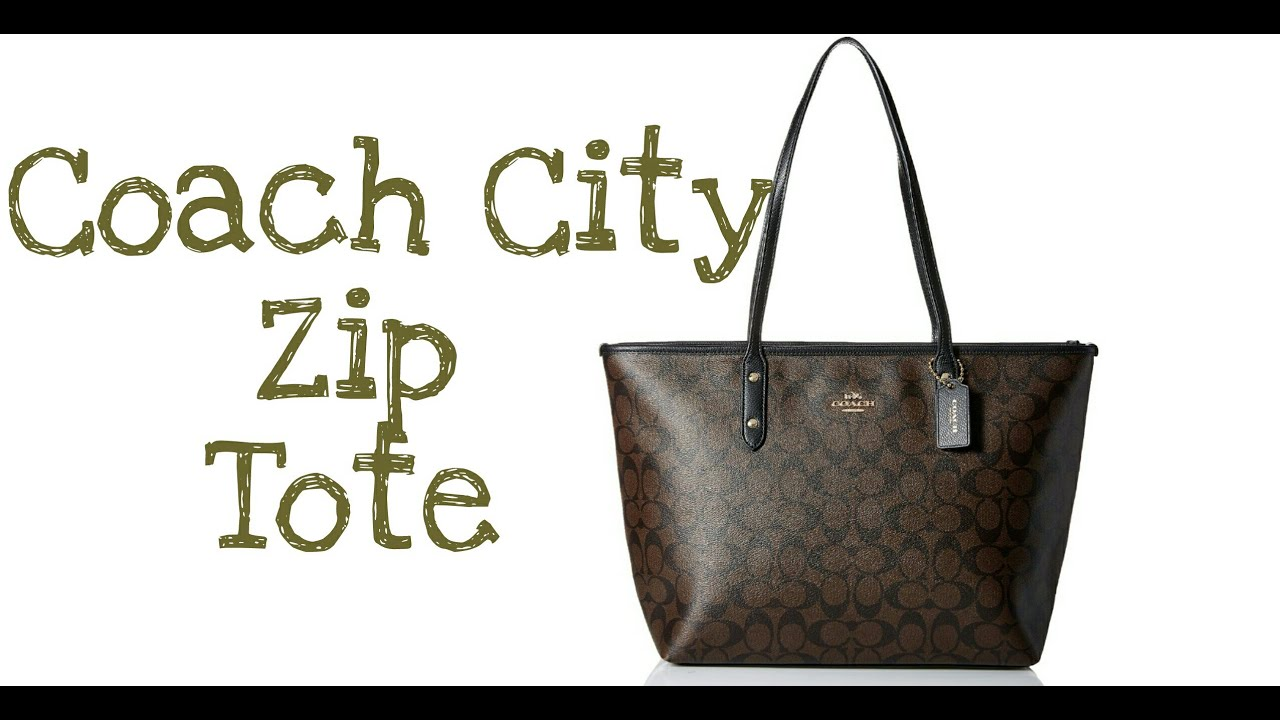 c940a8827ee3 Coach City Zip Tote - Signature Tote