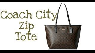 Coach City Zip Tote - Signature Tote   Bag Review