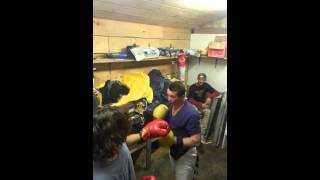 Boxer Stuns Kid With Some Good Hooks