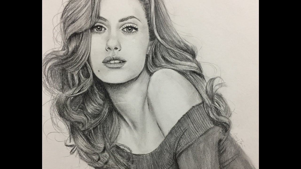 draw realistic girl