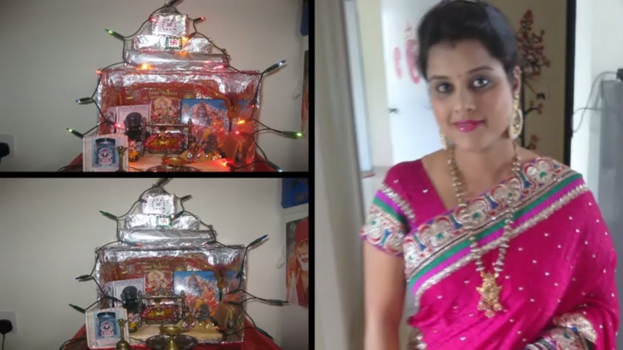 DIY Puja Mandir Temple From Cardbox  How To Make Cardboard Temple At Home   Mandir For Diwali