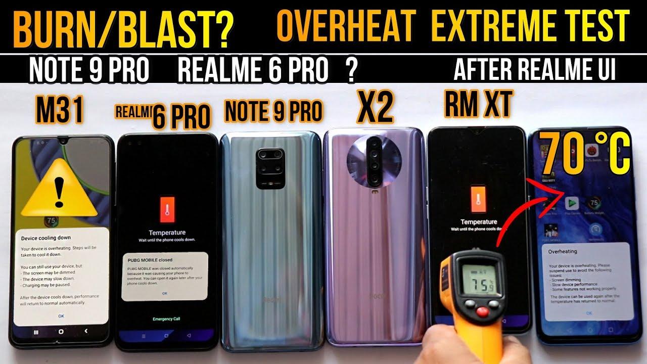 Download 70 °C - NOTE 9 PRO REALME 6 PRO BURN/ BLAST ??  EXTREME OVERHEAT TEST