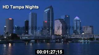 Tampa - Tampa Florida - HD Tampa Night - HD Stock Footage - HD Stock Videos