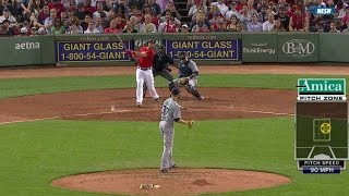 Ross uses hat to snag Shaw's two-run dinger