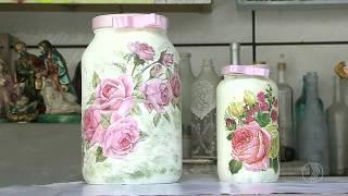 Aprenda a fazer vidros decorados com materiais reciclados