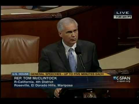Tom mcclintock is a asshole think, that
