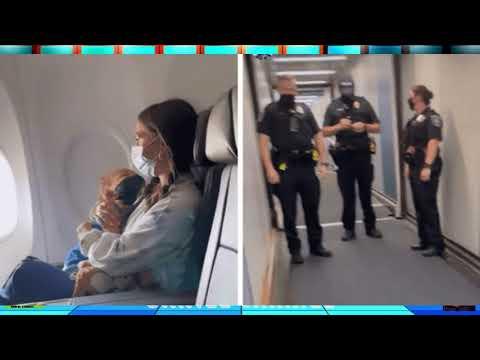 ABSURDO: Mãe e filho asmático de 2 anos são expulsos de avião por criança não usar máscara; VEJA