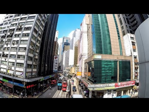 A Walk Around Central Hong Kong, HSBC Building, Large Roads and Narrow Alleys