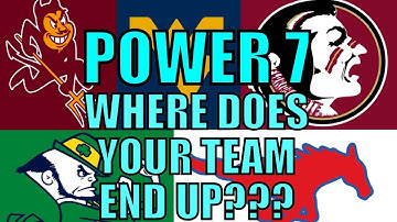 Fixing College Football - POWER 7 Conference Realignment