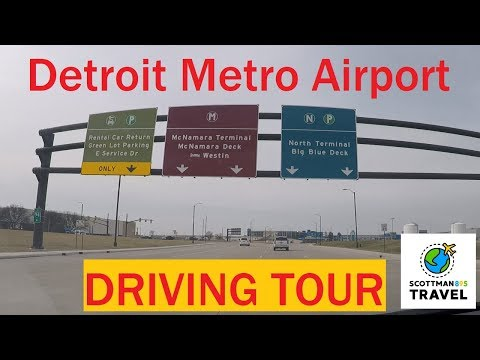 Driving With Scottman895: Detroit Metro Airport Driving Tour