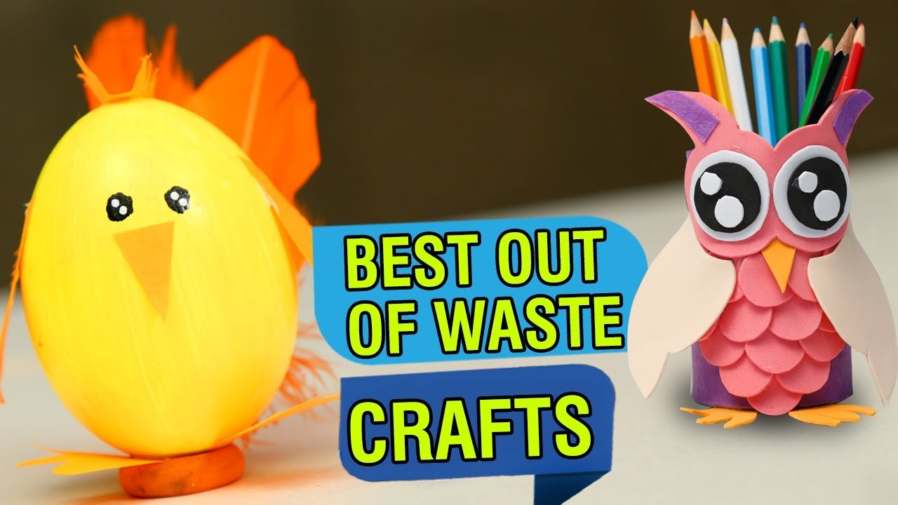 5 Best Out Of Waste Craft Ideas Recycled Craft Ideas Diy Crafts