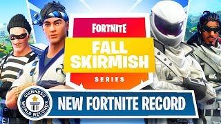 Fortnite Fall Skirmish $45,000 Week 1 Trials - World Record Squad Kills