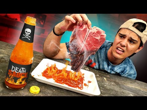 Can The World's HOTTEST Sauce Cook A Steak?!