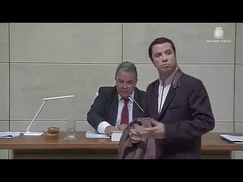 Confused Travolta in Maltese Parliament
