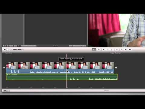 Syncing Sound in iMovie