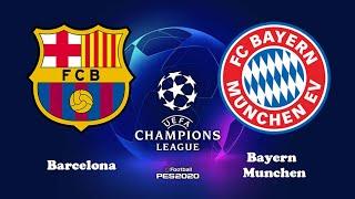 Barcelona vs bayern munich | champions league 14 august 2020 pes gameplay