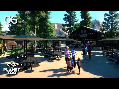 Planet Zoo | Oak Creek Zoo 🦓 | Ep.6 Snack Area & Backstage