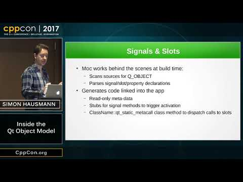 """CppCon 2017: Simon Hausmann """"Inside the Qt Object Model"""""""