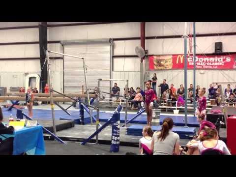 Level 6 Gymnastics 2014, 8 year old Thamerin's bar routine