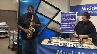 Wilmington Alto Saxophone Low Notes and Demo with Benny Hill