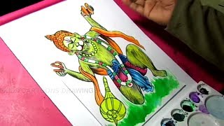 How to Draw Lord Hanuman Drawing for Kids