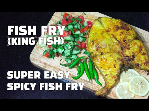 How to Make Fish Fry - King Fish Recipes - Spicy Indian Style Fried Fish - Youtube