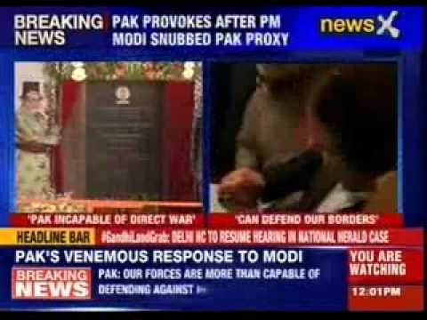 "Pakistan's response to PM Narendra Modi's ""Proxy War"" remark"